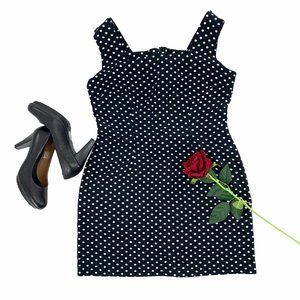 Dawn Joy Fashions Polkadot Mini Dress Black White